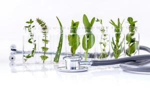 Essential oil and stethoscope photo