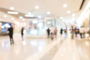 Defocused shopping mall interior