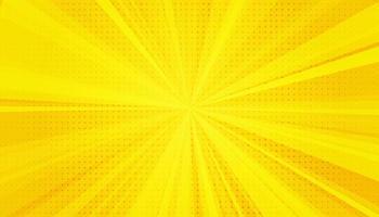 Fondo de arte pop de cómics amarillos. estilo retro del arte pop de semitono degradado vector