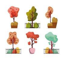 colección de plantas de otoño vector