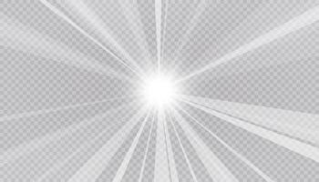 Resumen de rayos brillantes y fondo claro. vector e ilustración.