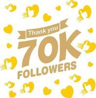 Likes, Thank You Followers, Eps 10 vector