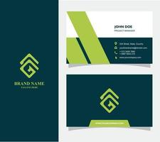 Bussiness Card with Logo G Vector, Eps 10 vector