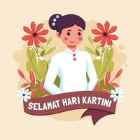 Selamat Hari Kartini Design vector