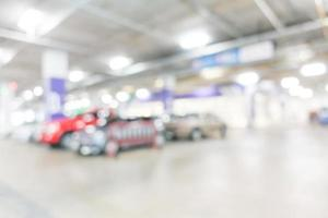 Abstract defocused garage background photo