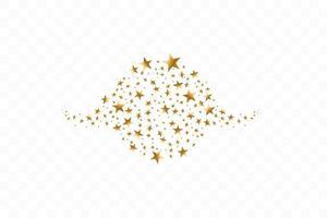 estrellas doradas en círculo ilustración vectorial. icono plano símbolo de marco de estrella vector