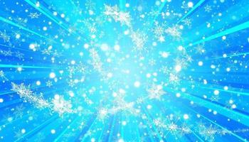 copos de nieve en forma de corazón en un estilo plano en líneas de dibujo continuas. rastro de polvo blanco. Fondo abstracto mágico aislado. milagro y magia. vector