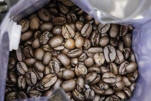 Fresh roasted coffee beans photo
