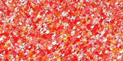 textura de vector rojo claro con estilo triangular.