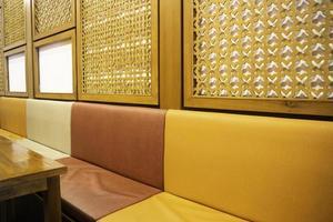 Oriental restaurant booth