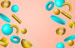 Abtract 3D Geometric Background