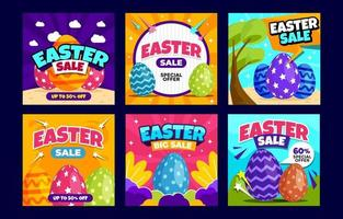 Easter Sale Social Media Post vector