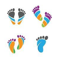 imágenes de logo de cuidado de pies vector