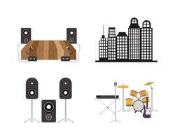 paquete de iconos de banda musical vector