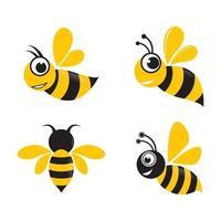 Bee logo images vector