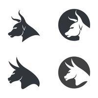 Bull head logo images vector