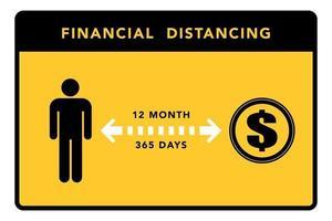 Financial distancing banner. Vector illustration