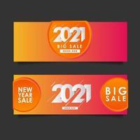 Happy New Years 2021 Big Sale Celebration Vector Template Design Illustration