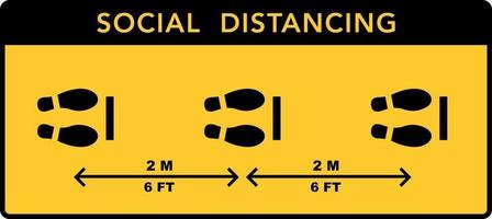 Social distancing banner. Keep the distance vector