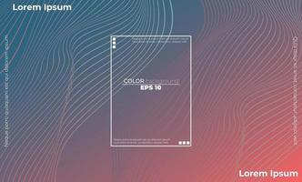 modern line wave curve abstract presentation background vector