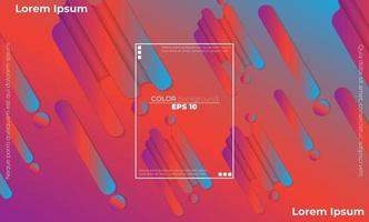 Colorful geometric background with gradient motion shapes composition vector