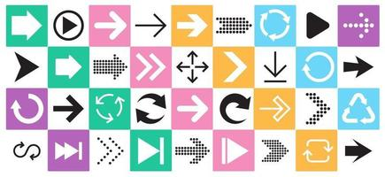 Arrow sign icon set. Collection of arrows for web design, mobile apps, interface. vector