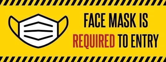 No face mask, no entry sign vector