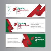Feliz día de la independencia de Marruecos celebración vector plantilla diseño ilustración