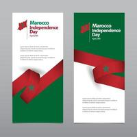 Happy Morocco Independence Day Celebration Vector Template Design Illustration