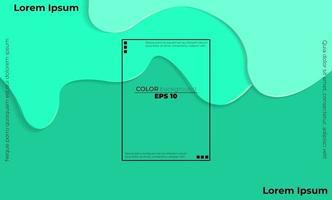 Trendy fluid flow gradient shapes composition vector