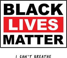 Black Lives Matter Typography, Protest Banner about Human Right of Black People in the USA. vector