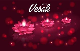 Lotuses on Vesak Day vector