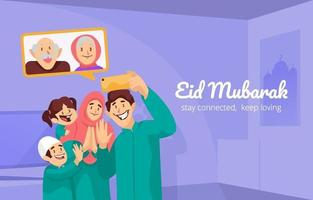 Say Happy Eid to Grandparents vector