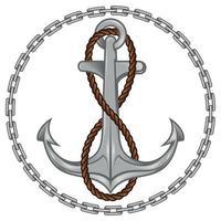 vector de ancla y cuerda rodeado de cadenas