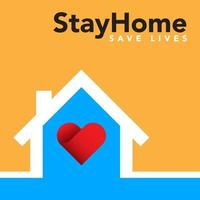 Stay at home banner vector