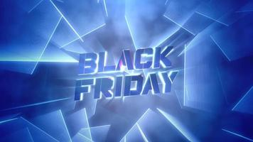 animação intro text black friday e motion blue neon laser lines, abstract background video