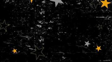 movimento abstrato estrelas amarelas e cinza, fundo colorido do grunge