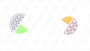 beweging abstracte geometrische vorm, kleurrijke achtergrond
