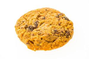 Oatmeal cookie and biscuit on white background photo
