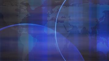 animação gráfica de introdução de notícias com grade e mapa-múndi, fundo abstrato video