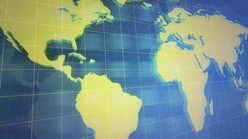 nieuws intro grafische animatie met raster en wereldkaart, abstracte achtergrond