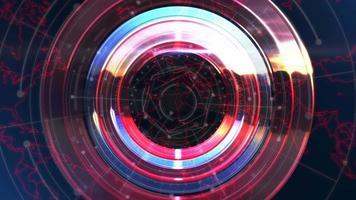 intro notícias animação gráfica com linhas e formas circulares, fundo abstrato