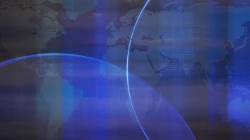 Animación gráfica de introducción de noticias con líneas y mapa del mundo, fondo abstracto video
