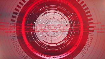 notícias, introdução, animação gráfica com linhas e formas circulares, fundo abstrato
