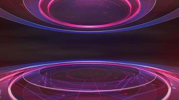 grafische Animation des Nachrichtenintro mit Linien und kreisförmigen Formen, abstrakter Hintergrund video