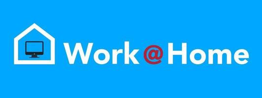 trabajar en casa. coronavirus covid-19, frase motivacional de cuarentena vector