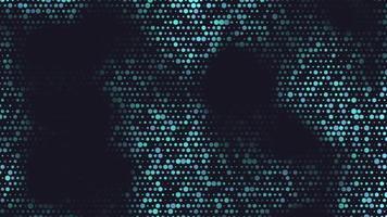 movimento de introdução de pontos azuis geométricos, fundo abstrato