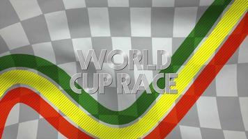 rörelse formel flagga och text världscup lopp, retro sport bakgrund