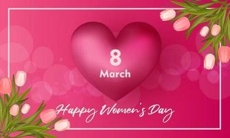 Happy women's day background vector