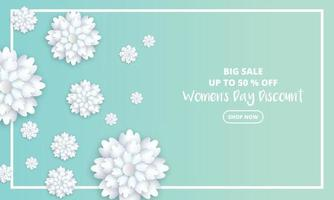 Womens day sale poster design vector